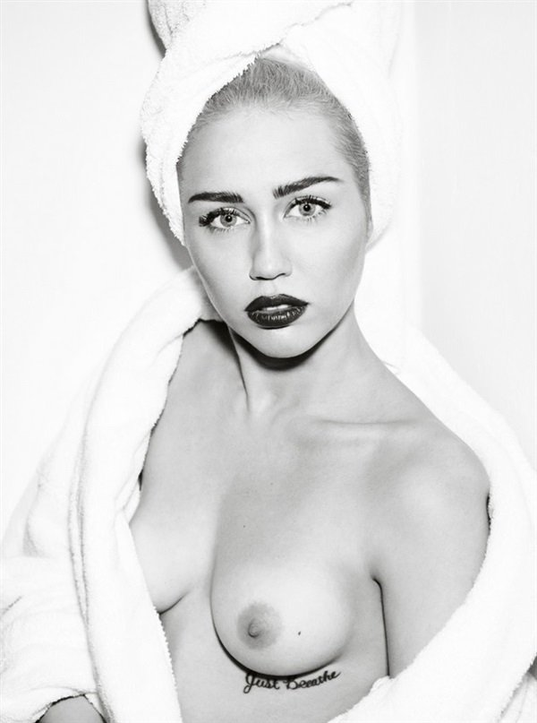 Miley Cyrus towel