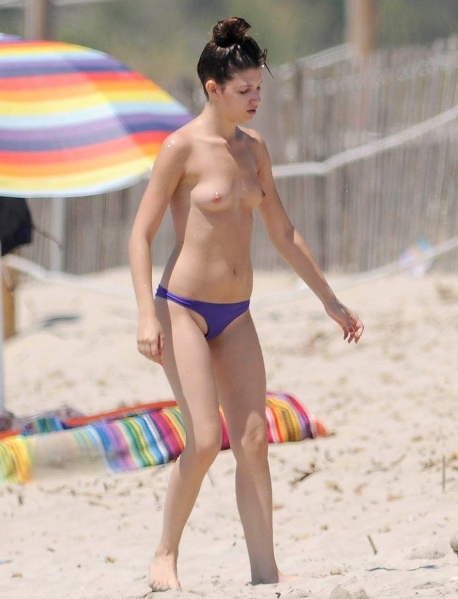 Ursula Corbero Topless Candids On A Nude Beach