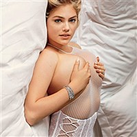 Kate Upton & Friends Covered Topless In Fishnets For V Magazine