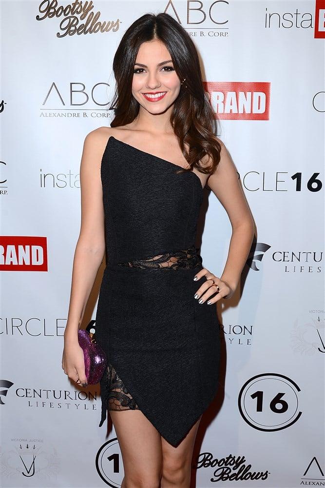 Victoria Justice Celebrates 21st Birthday In A Little Black Dress