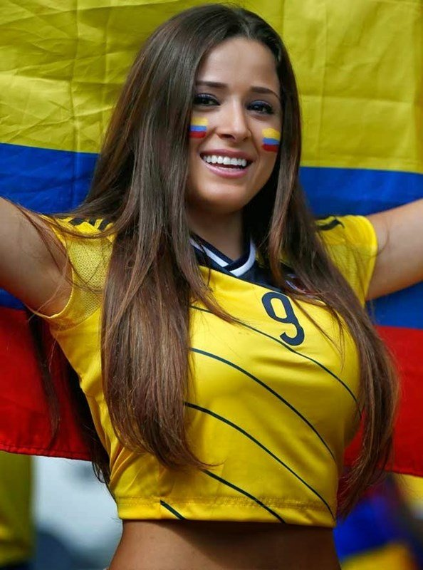 Colombian World Cup girl