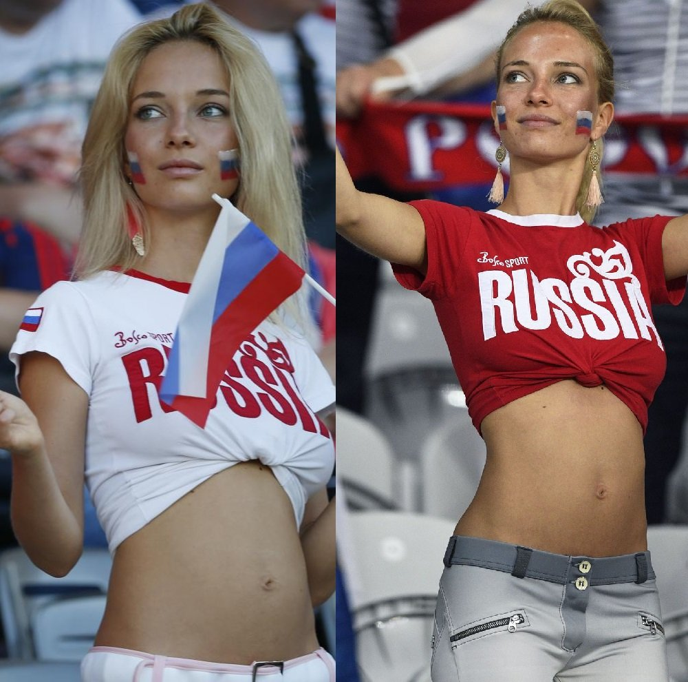 Russian World Cup girl