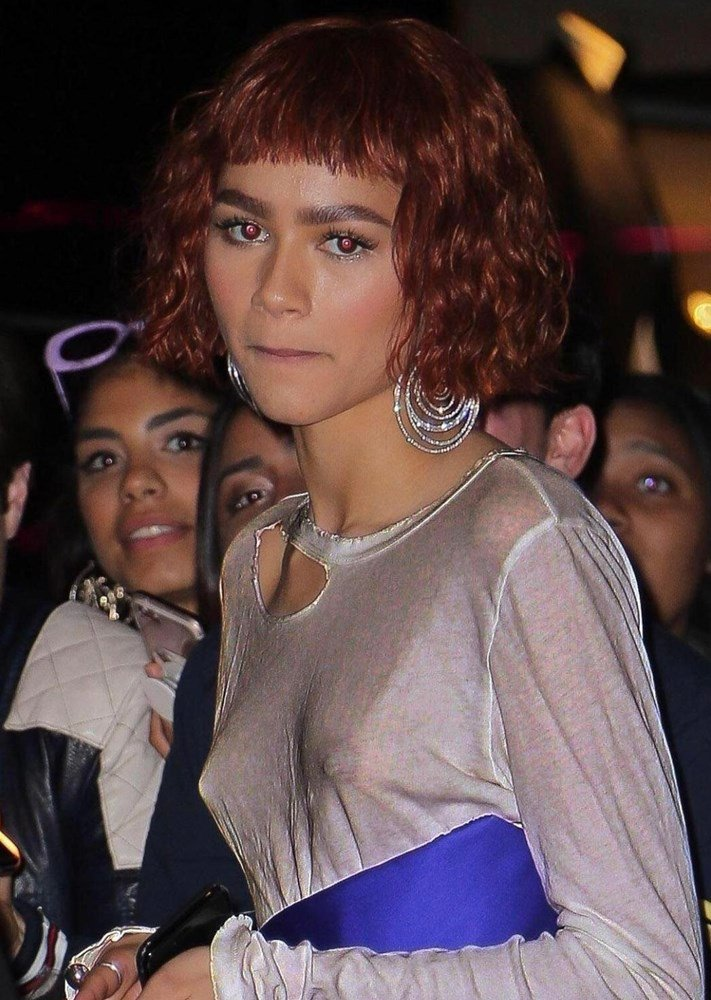 Zendaya Shows Off Her Candy-Coated Tits