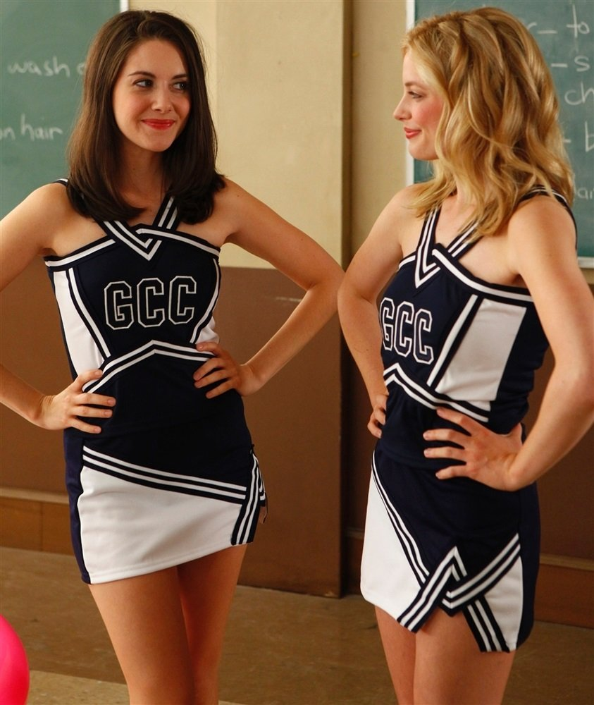 Alison Brie Gillian Jacobs cheerleaders
