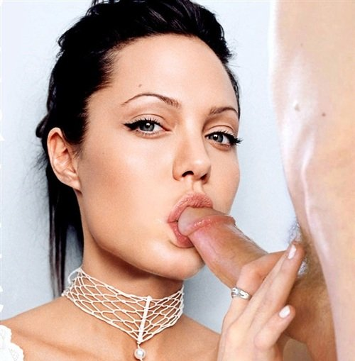 Angilena jolie sucks cock