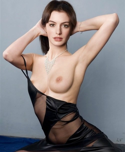 Through anne hathaway clothes see
