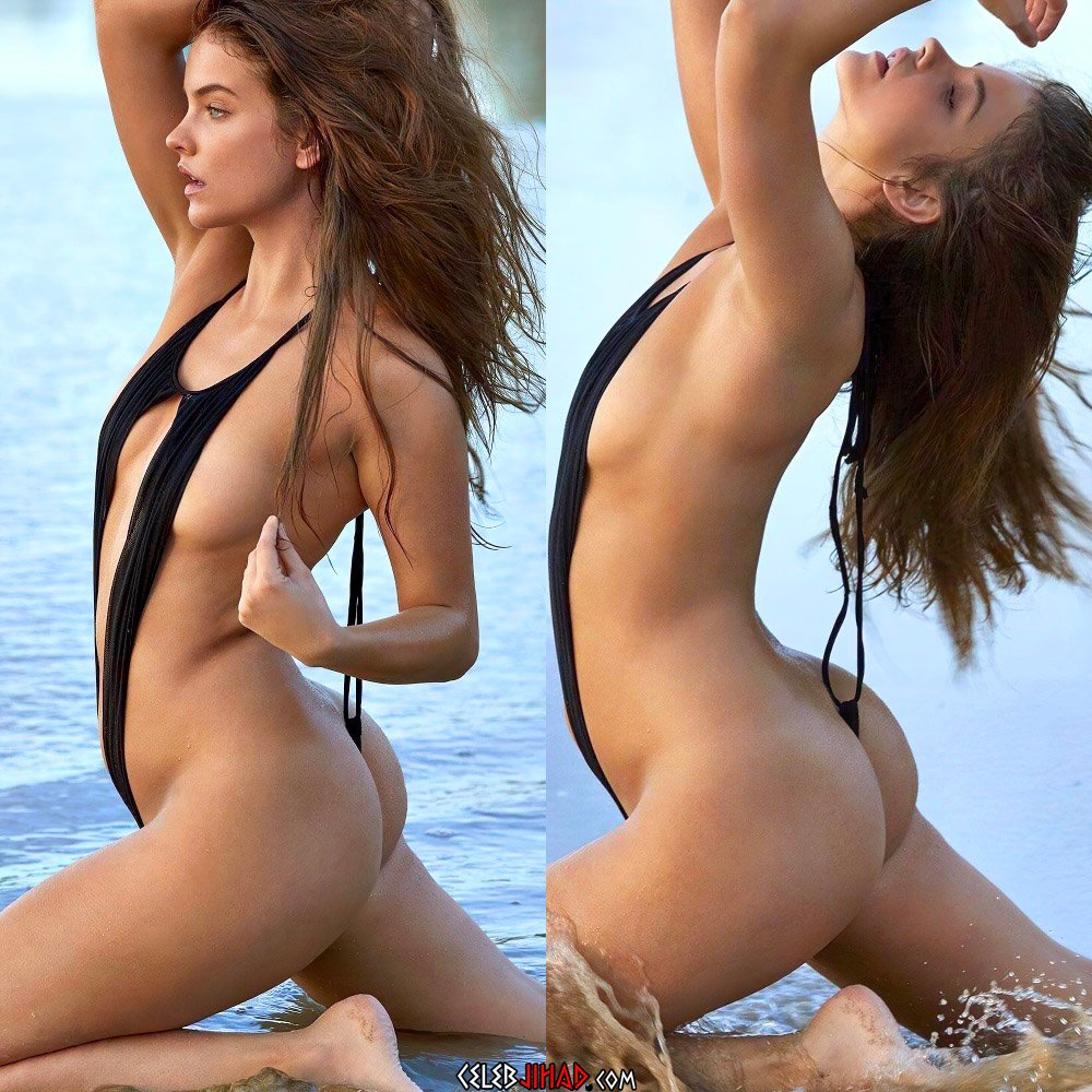 Barbara Palvin Strips Down To Her Leopard Thong