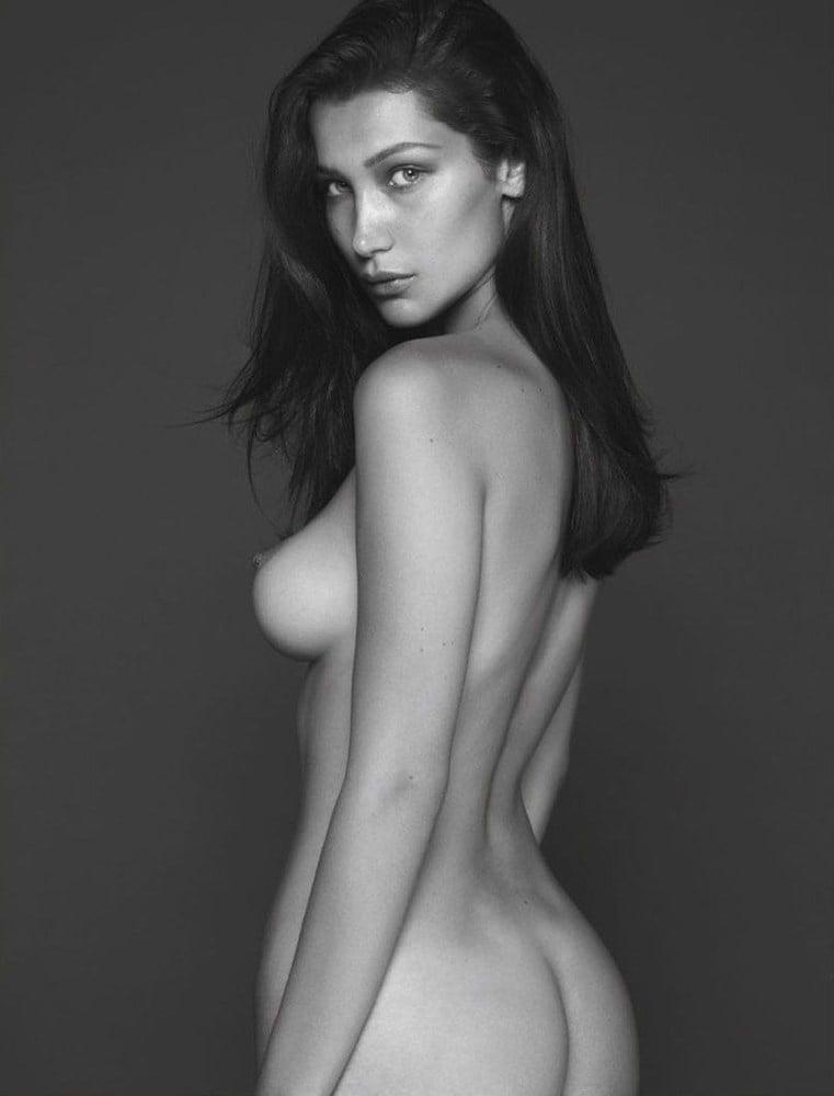 Bella Hadid nude topless