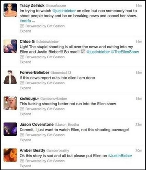 Bieber Fans Are Sick Of Hearing About The School Shooting
