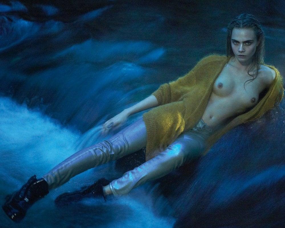 Cara Delevingne topless nude