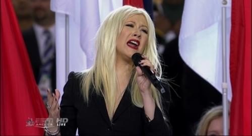 Christina Aguilera Butchers Super Bowl National Anthem On Purpose