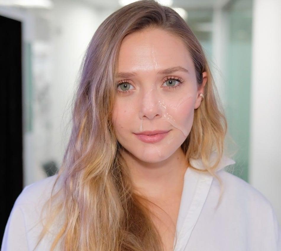 Elizabeth Olsen facial
