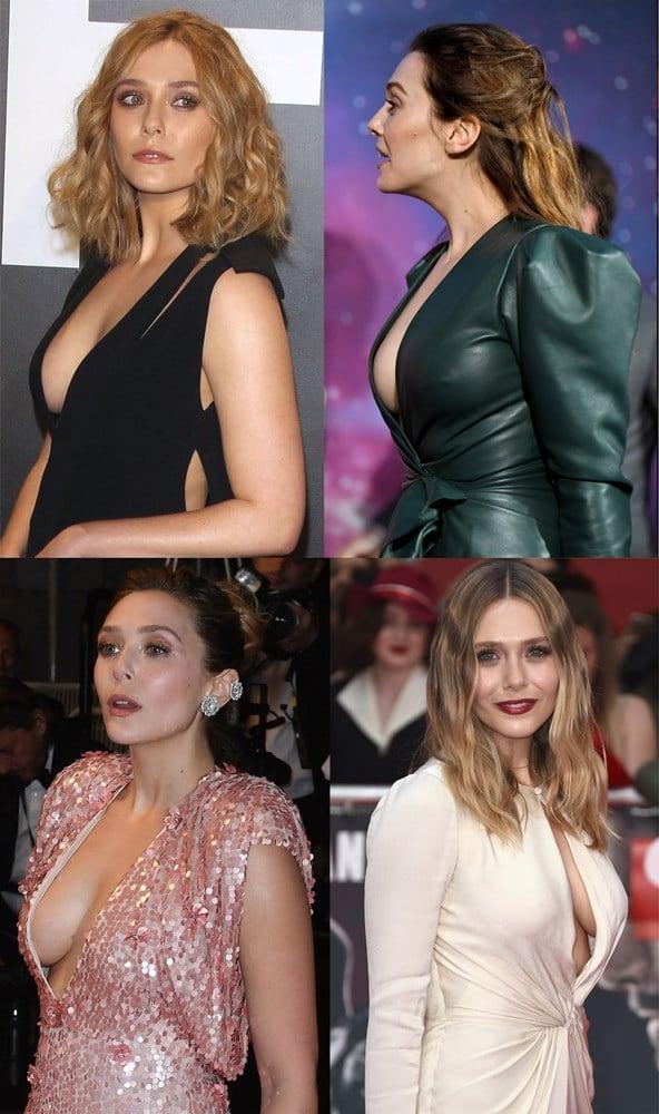 Elizabeth Olsen Nude Upskirt Pussy Flash