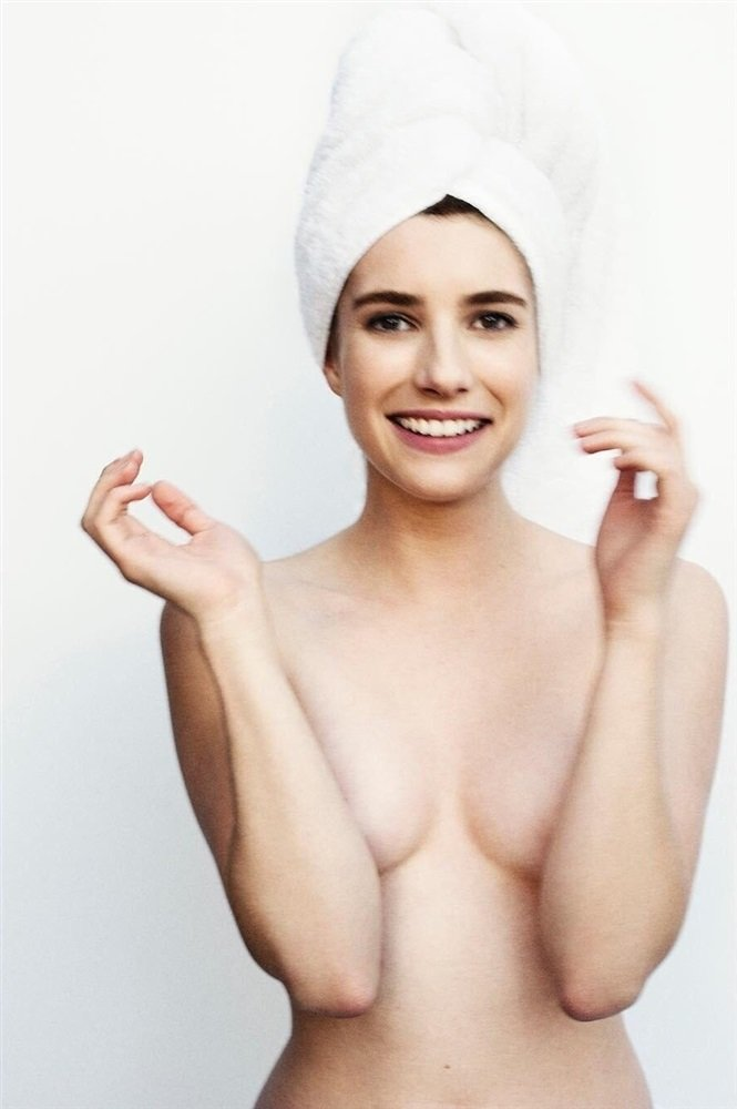 Emma Roberts covered nude