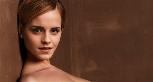 Emma Watson Nude Against A Wall