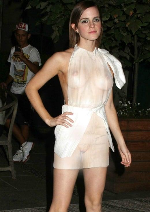 Emma Watson Wears See Thru Dress For Halloween