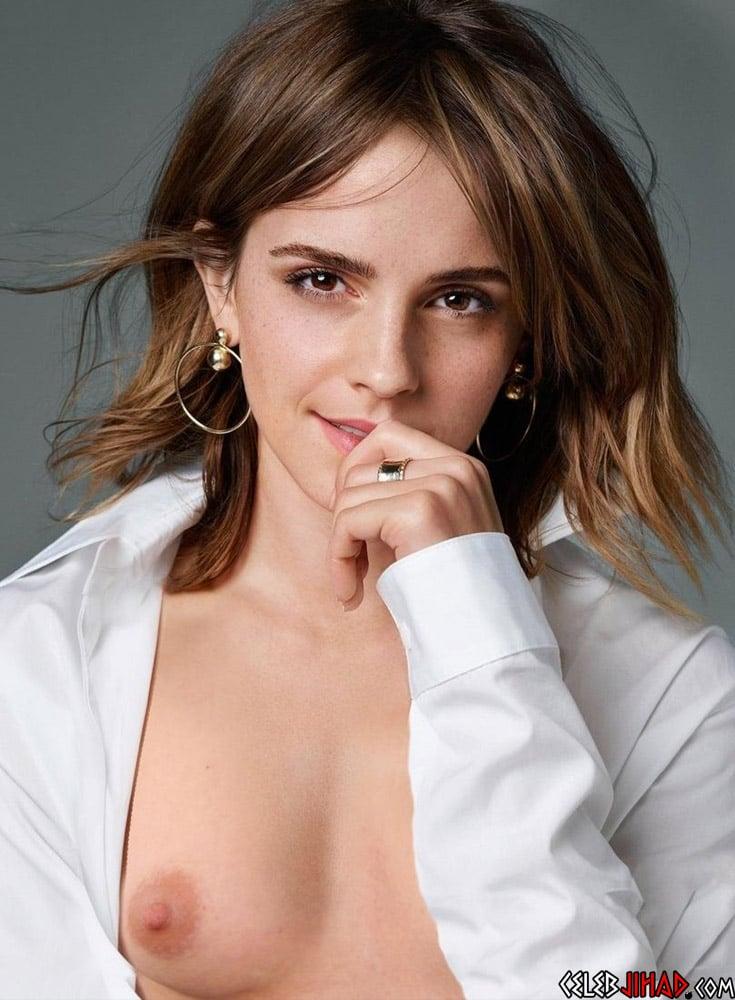 Emma Watson's Nude Titties For Futuristic Fashion