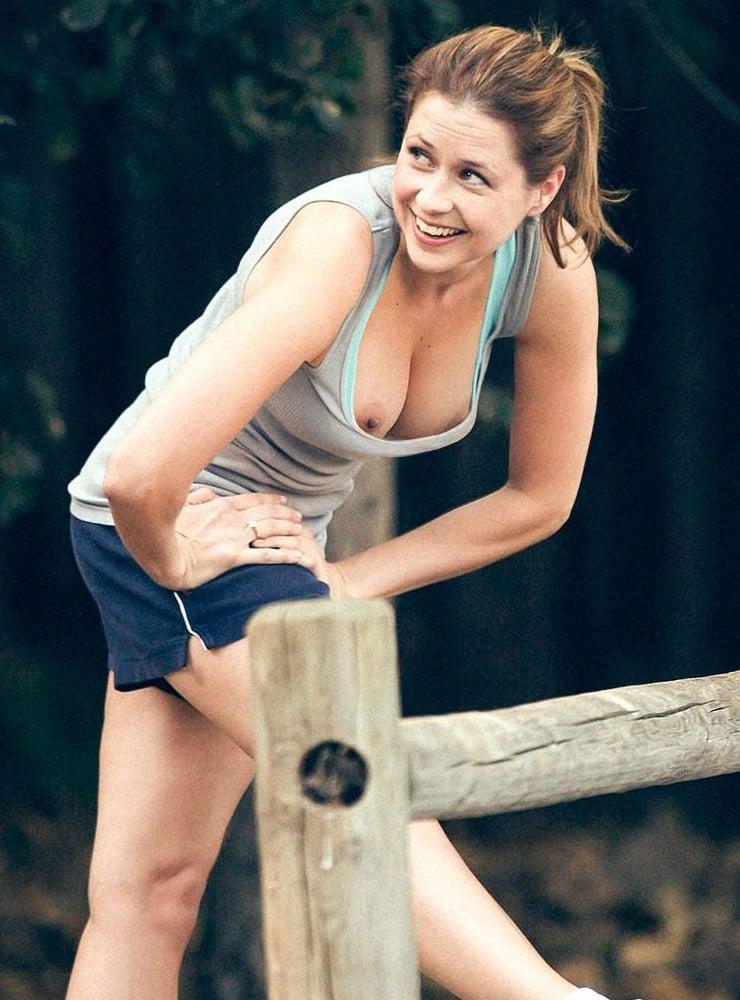 Jenna Fischer nip slip