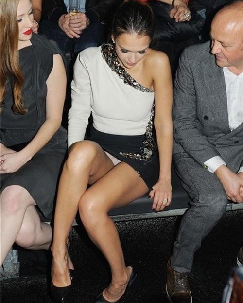 Jessica Alba upskirt