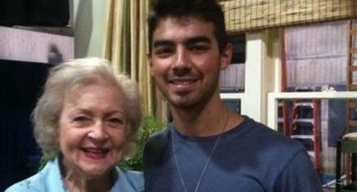 Joe Jonas Betty White