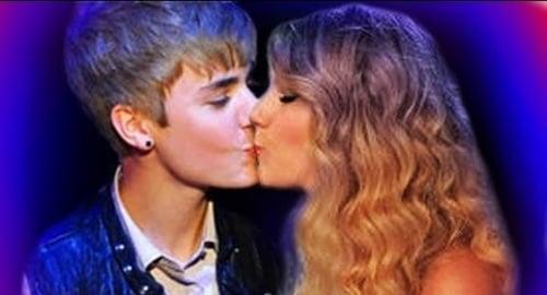 Justin Bieber Taylor Swift kiss