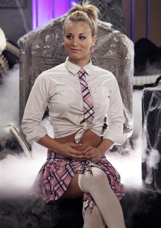 Kaley Cuoco schoolgirl