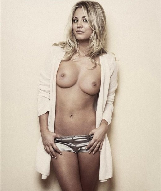 topless pictures of kaley cuoco