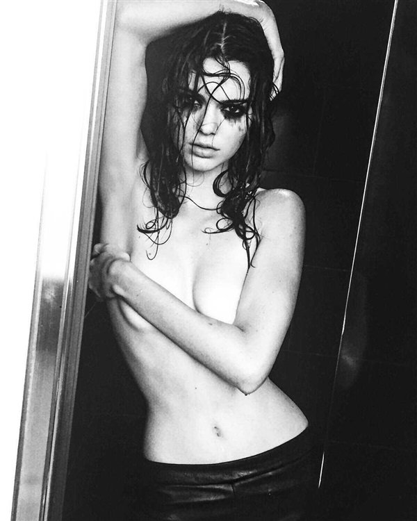 Kendall Jenner Covered Nude Shower Pics