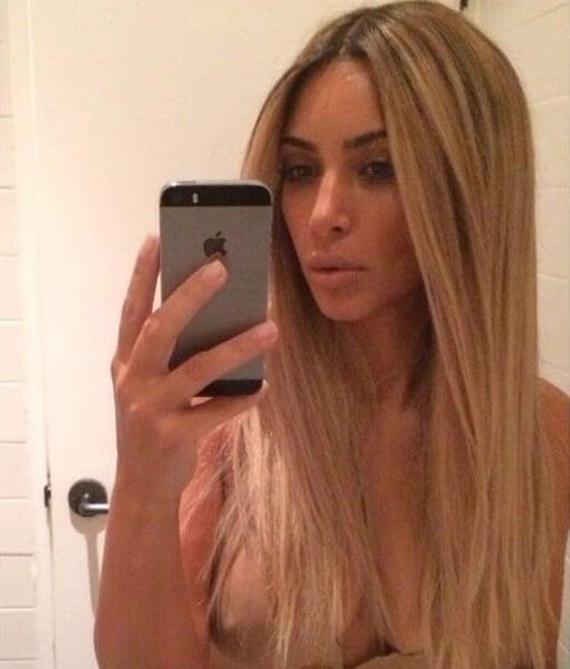 Kim Kardashian nipple