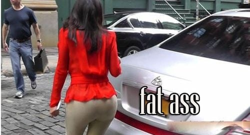 Kim Kardashian fat ass