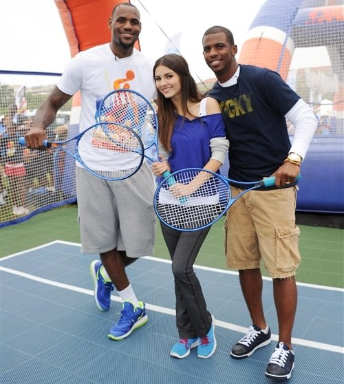 Victoria Justice LeBron James Chris Paul