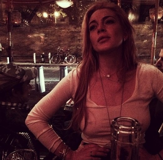 Lindsay Lohan nipple Instagram