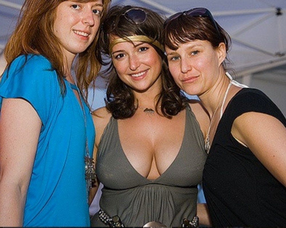 Milana Vayntrub Partying With Her Tits Out