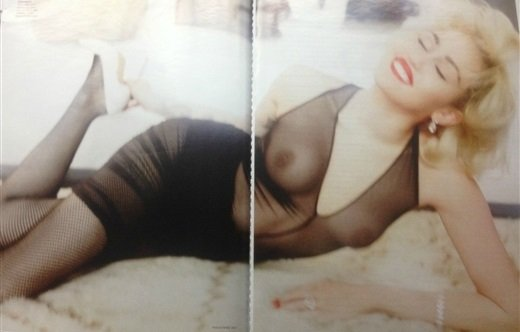 Miley Cyrus Topless Again, This Time In Vogue