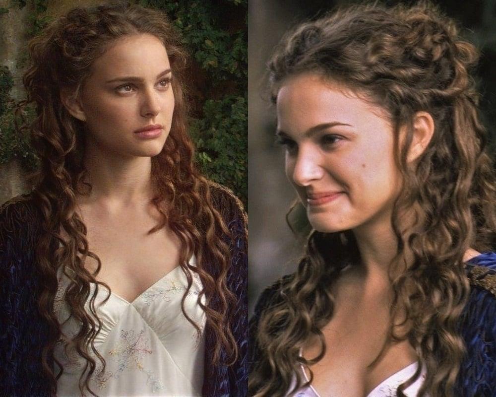 Natalie Portman curly hair