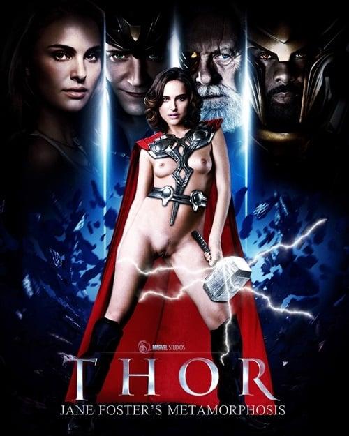 Natalie Portman Naked For Thor 2 Movie Poster-2155