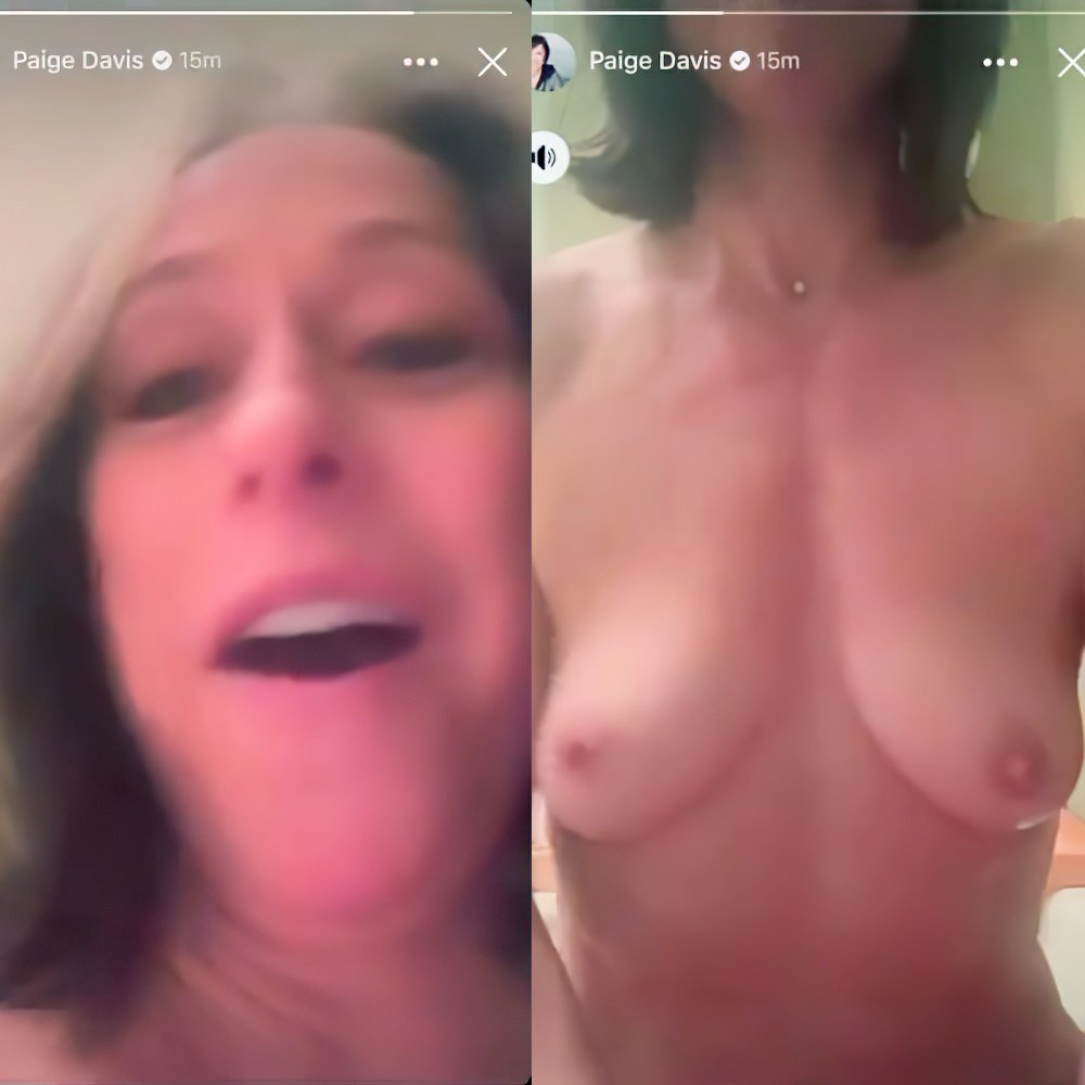 Paige Davis Washes Her Nude Tits On Facebook Live