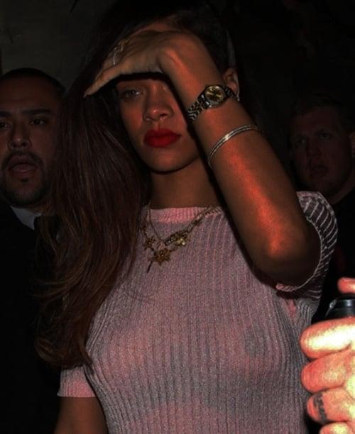 through vagina see Rihanna