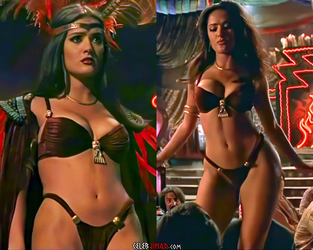 Salma Hayek Stripper Scenes Compilation In 4K