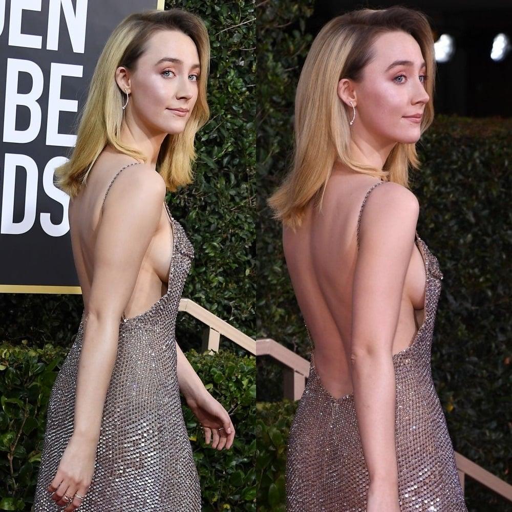 Saoirse Ronan side boob