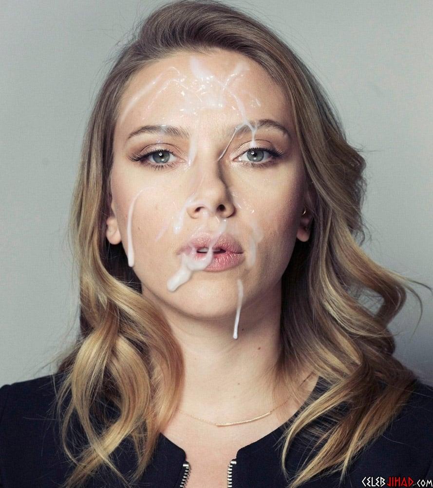 Scarlett Johansson facial