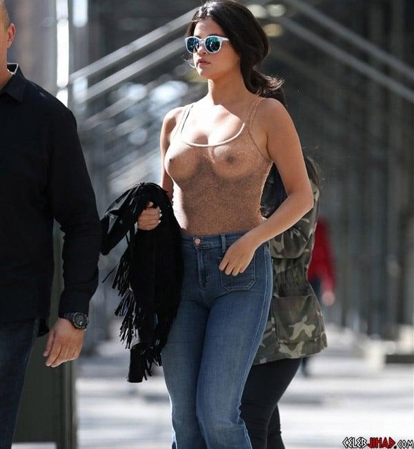 Selena Gomez Braless in New York TMZcom