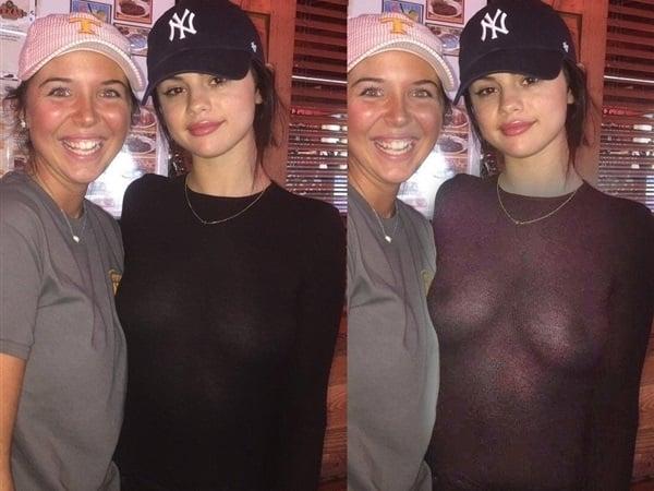 Selena Gomez sweater tits