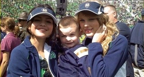 Selena Gomez Taylor Swift Notre Dame