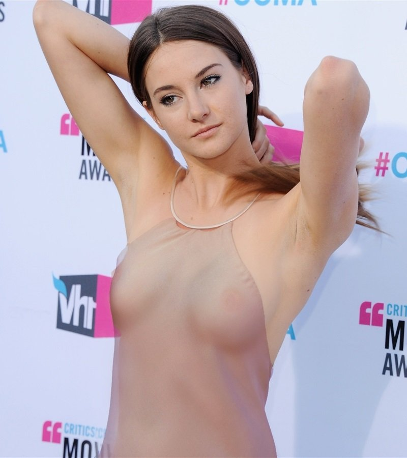 Shailene Woodley see through nipples