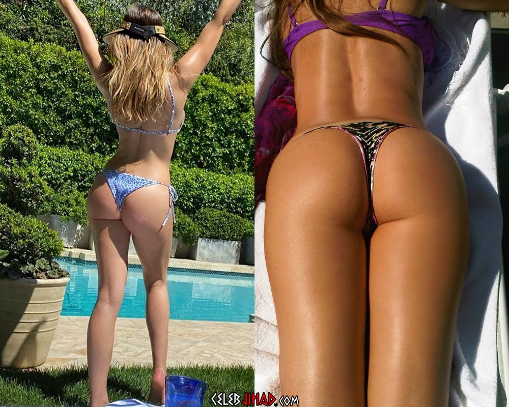 Sofia Vergara Shows Her Ass In A Thong With Her Niece
