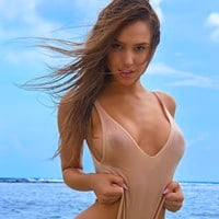 Alexis Ren Nipples And Nude Ass In SI Outtakes