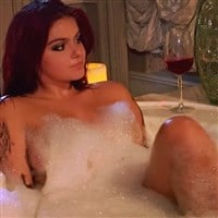 Ariel Winter Barely Covered Nude In A Bubble Bath