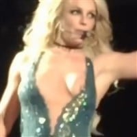 Britney Spears In Concert Nipple Slip