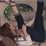 Debby Ryan With Her Legs In The Air Begging For It
